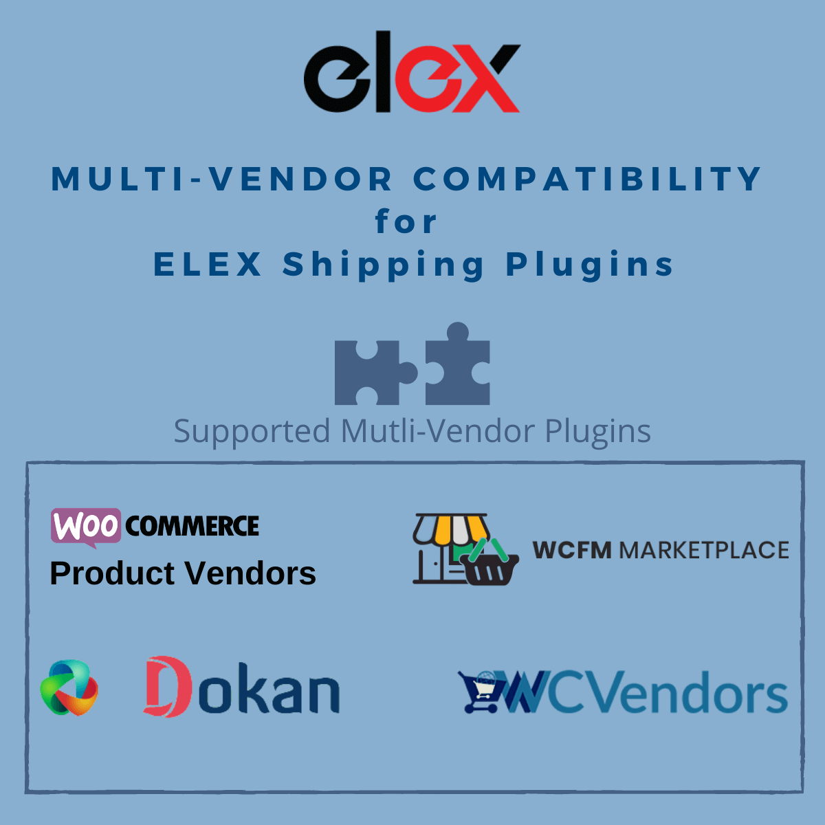 WooCommerce Multi-Vendor Support for ELEX Shipping Plugins