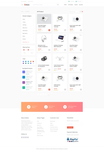 all product categories grid view design