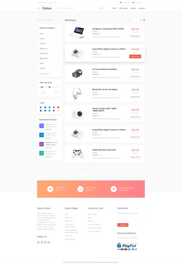 all product categories list view design