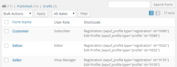 Different User Role Registration